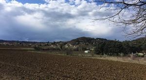 Ciel Mours-Saint-Eusebe 26540 Masse nuageuse en campagne
