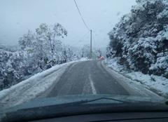 Neige Tizi N'Tleta Chutte de neige tardive en Kabylie