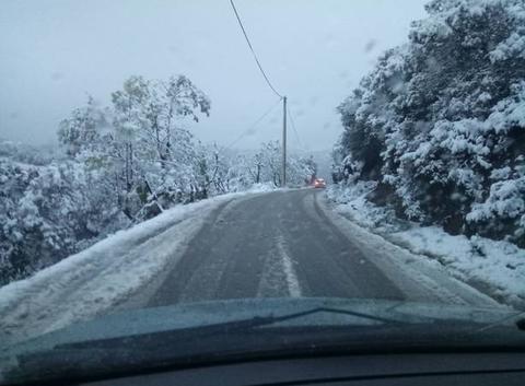 Chutte de neige tardive en Kabylie