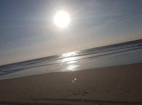 Promenade en bord de l'océan