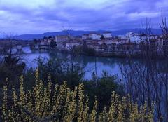 Ciel Mours-Saint-Eusebe 26540 Quelques notes de printemps ce soir sur l'Isère