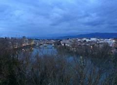 Insolite Romans-sur-Isere 26100 Panoramique de l'Isère au crépuscule depuis Bellevue