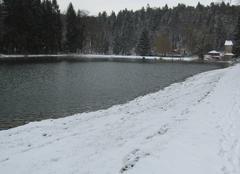 Neige Longeaux 55500 Neige surprise aux étangs de Longeau