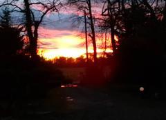 Ciel Cazeres-sur-l'Adour 40270 Coucher de soleil dans les Landes