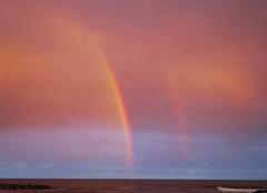 Ciel Frontignan 34110 Double arc en ciel lors d'un coucher de soleil