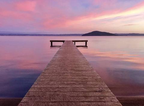 Dawn on cedarwood lake side