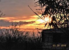 Ciel Nogaret 31540 Lever de soleil de feu.