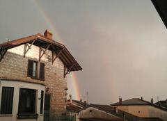 Ciel Neuville-sur-Ain 01160 Double arc en ciel