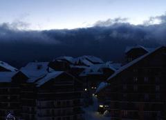 Neige Risoul 05600 Gris et neige cette nuit