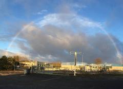 Ciel Dijon 21000 Arc en ciel du matin