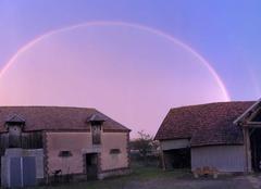 Ciel Savieres 10600 Arc en ciel après l?averse orageuse