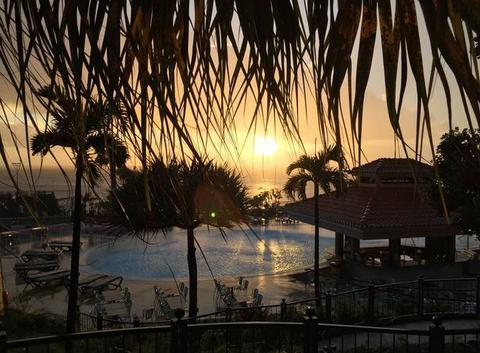 Coucher de soleil à Madère, hôtel Pestana Royal de Funchal