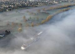 Brouillard Freneuse 78840 Bord de seine