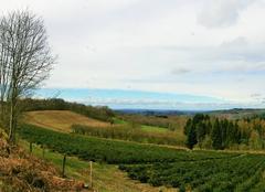 Ciel Ouroux-en-Morvan 58230 Retour d'une ligne bleue à l'horizon