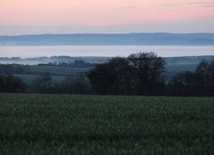 Ciel Bonnemaison 14260 Brume sur la vallée de l'Orne au lever du jour