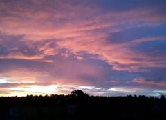 Ciel Dhuizon 41220 Levé du soleil en Sologne