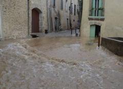 Pluie Saint-Martin-de-Londres 34380 Inondation dans le village