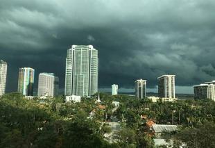 Ciel Miami Orage à miami