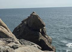Ciel Le Croisic 44490 Le rocher de l?ours sur la cote sauvage du Croisic