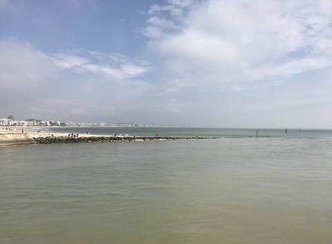 La baie de la Baule depuis la digue du Pouliguen