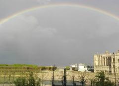 Ciel Saint-Germain-en-Laye 78100 Arc en ciel entourant le château