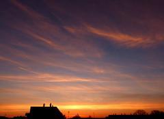 Ciel Niort 79000 Coucher de soleil de ce 18 avril 2018