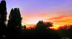 Ciel Villers-la-Ville 70110 Couché de soleil