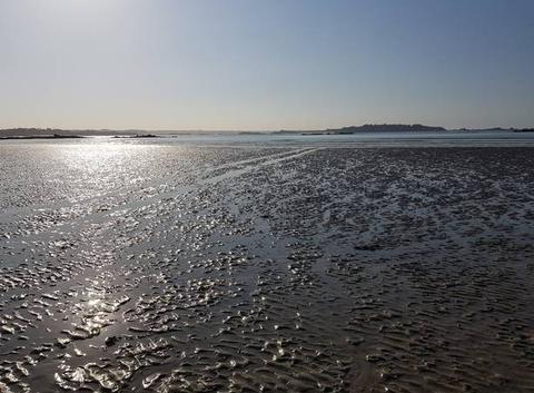La plage de Lancieux.