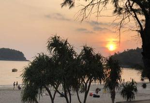 Ciel Phuket Coucher de soleil sur Kata Beach