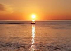 Mer La Teste-de-Buch 33260 Coucher de soleil sur l'océan