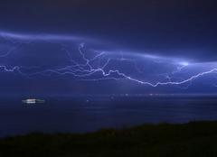 Orage Le Havre 76600 Ciel illuminé