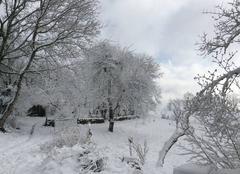 Neige Montfranc 12380 Paysage d?hiver
