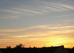 Ciel Le Perreux-sur-Marne 94170 Soleil couchant et nuages epine