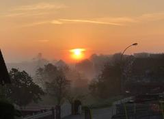 Brouillard Minversheim 67270 Lever de soleil