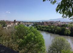 Ciel Romans-sur-Isere 26100 Grand soleil sur l'Isère depuis le panoramique