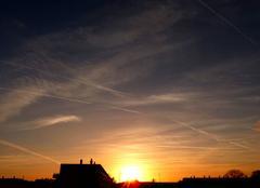 Ciel Niort 79000 Coucher de soleil de ce 26 avril 2018