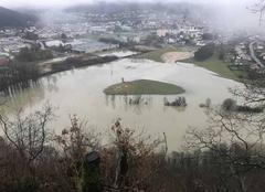 Climat Baume-les-Dames 25110 Inondations janvier 2018