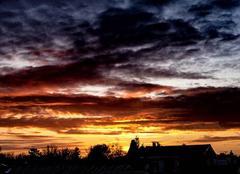 Ciel Eysines 33320 Coucher de soleil sur Eysines