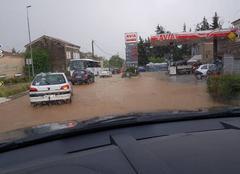 Orage Montboucher-sur-Jabron 26740 Grêle et inondation sous orage