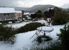 Grêle La Motte-en-Champsaur 05500 Après l'orage de grêle