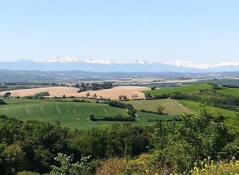 La chaîne des Pyrénées depuis Montréal (11)