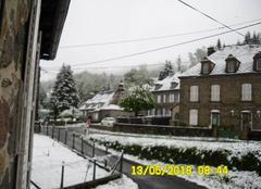 Neige Le Falgoux 15380 La Chaze sous la neige