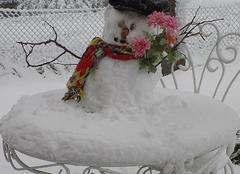 Neige Devesset 07320 Petit bonhomme de neige de mai