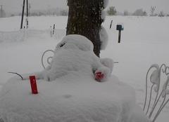 Neige Devesset 07320 Petit bonhomme de neige de mai fin