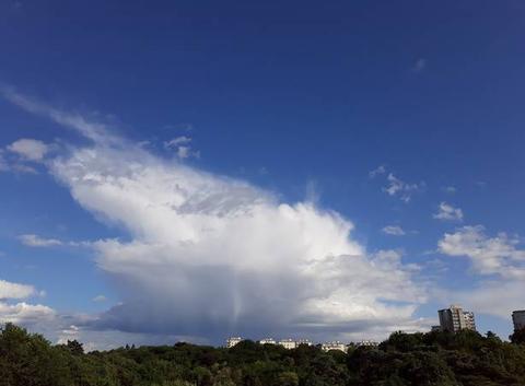 Ciel de traine sur Nantes