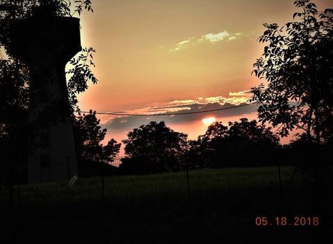 Enfin, un coucher de soleil, et un beau...