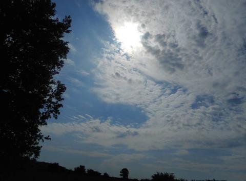 Soleil caché par les nuages