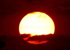 Ciel Niort 79000 Coucher de soleil de ce 20 mai 2018