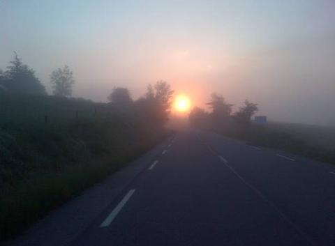 Route du soleil levant ...route de Retournac