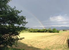 Ciel Mours-Saint-Eusebe 26540 Campagne après averse